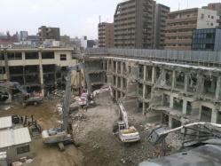 旧簀子小学校解体工事2