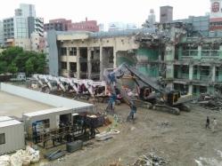 旧簀子小学校解体工事3