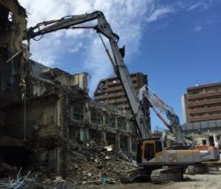 旧簀子小学校解体工事4